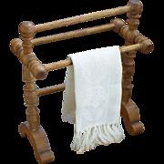 Antique Wooden Dollhouse Towel Rack