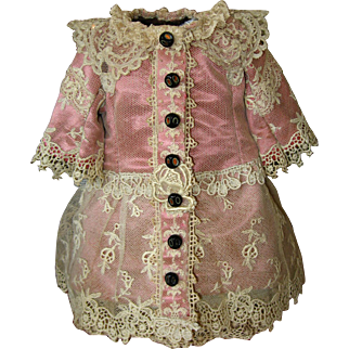 Lace Over Silk Doll Dress