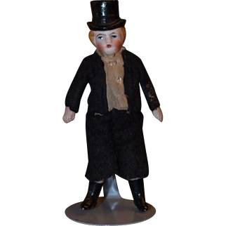 Tiny All Bisque with Molded Top Hat