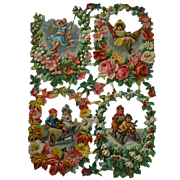 Early Victorian Die Cut Scrap Children