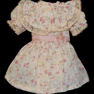 Sweet Cotton Flowered Doll Dress