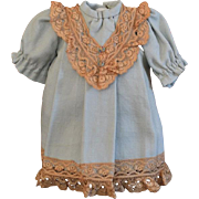 Adorable Light Blue Wool Doll Dress