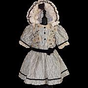 Gorgeous Silk Doll Dress with Bonnet