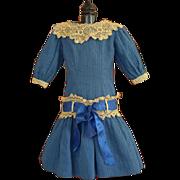 Pretty Blue Doll Dress