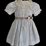 Sweet Pale Blue Silk Doll Dress