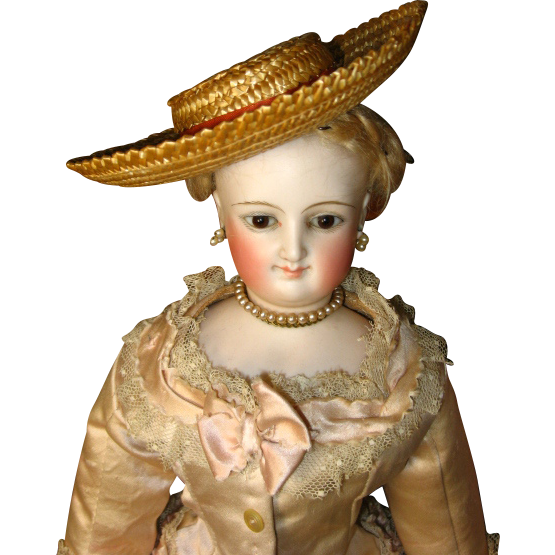 Great Straw French Fashion Doll Hat
