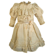 Creamy Cotton Doll Dress