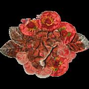Antique Velvet and Silk Applique