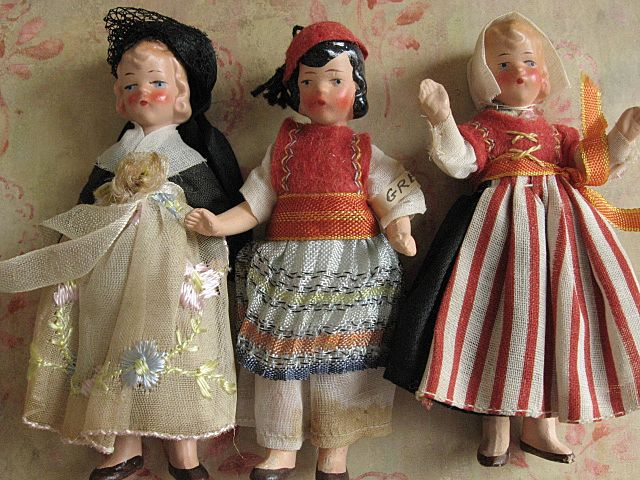 10 Adorable Doll House size Bisque Dolls