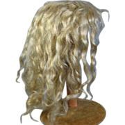 Gorgeous Blonde Mohair Wig for an antique doll