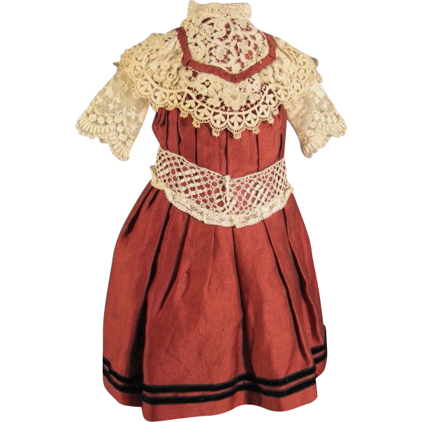 Beautiful Rust Colored Doll Dress