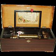 Antique Swiss Brass Cylinder Music Box