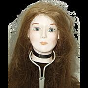 Vintage Handmade Bisque Doll Head