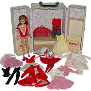1963 Mattel Skipper  Doll With Case And Clothes