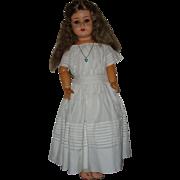 "Vintage 30"" Heubach Koppelsdorf Bisque Head Doll  SUR Mark 1919-1932"