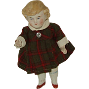 "6"" All Bisque German Doll  Turn Of The Century"