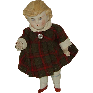 """6"""" All Bisque German Doll  Turn Of The Century"""