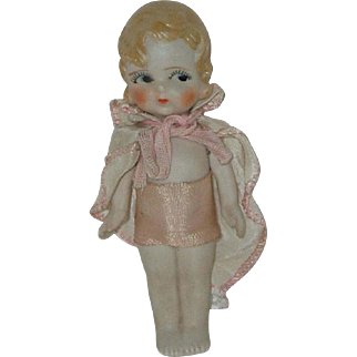 """Vintage 5"""" All Bisque Betty Boop Type Doll  Made In Japan"""