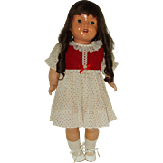 """Vintage 22"""" Celluloid Doll With Turtle Mark"""