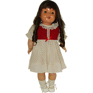 "Vintage 22"" Celluloid Doll With Turtle Mark"
