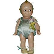1940's Composition Cameo Rose O'Neill Kewpie Doll 12""