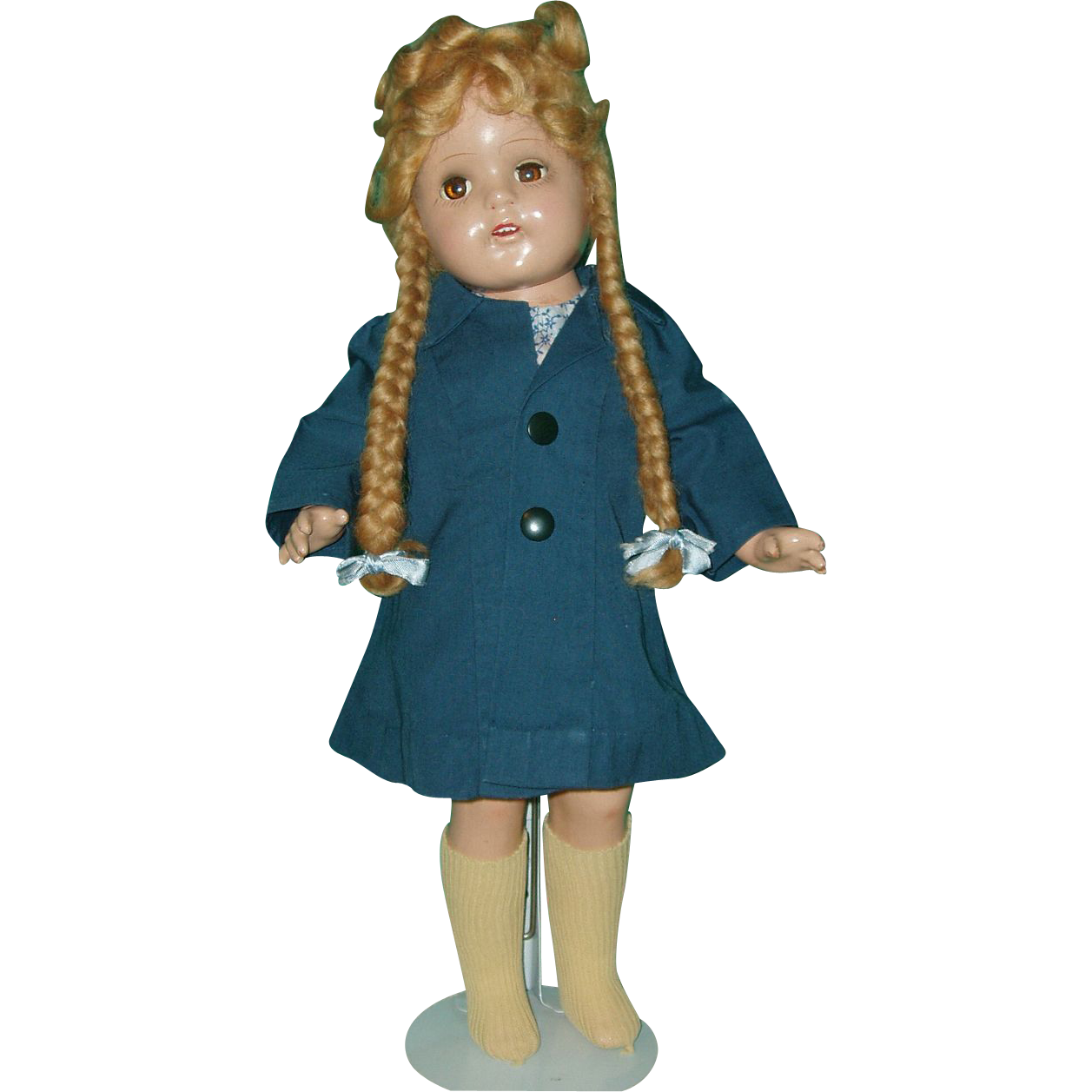"Vintage 17"" Composition  Girl Doll Refurbished"