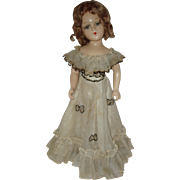 "21"" Unmarked Composition Doll     Circa 1938-1948"