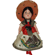 "Vintage 10"" Composition Mexican Senorita Doll"