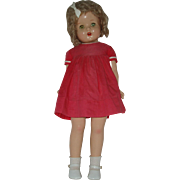 "23"" Composition Doll  Unmarked"