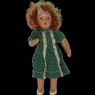 "Vintage 8"" Composition Doll Circa 1940"