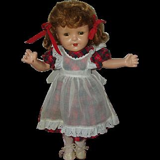 "Vintage 16"" Composition Doll  Circa 1945"