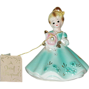 "Vintage 4"" Ceramic Josef Original June Birthday Figurine Circa 1950"