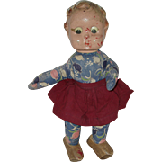 "16"" Composition Head Cloth Body Googly- Eye Doll   Circa 1938/1946"