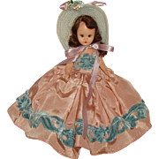 "6 1/2"" Hard Plastic Nancy Ann Story Book Doll  #411 of the All-Time Hit Parade Series  Circa 1949"