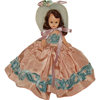 "6 1/2"" Hardplastic Nancy Ann Story Book Doll  #411 of the All-Time Hit Parade Series  Circa 1949"
