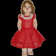 "Vintage 19"" Hard Plastic Imperial Crown Walking Doll Circa 1950"