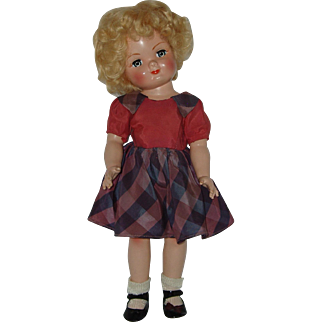 "Vintage 15"" Eugenia Personality Pla-Mate Kathy Doll  Hard Plastic Circa 1952"