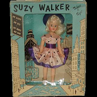 "Vintage 7"" Hard Plastic Walker Mint In The Box Circa 1950"