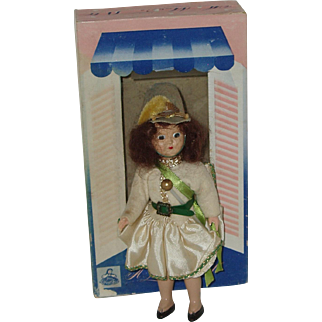 """Vintage 7"""" Storybook Type Doll In Box """"A Marcie Doll"""" Circa 1945"""