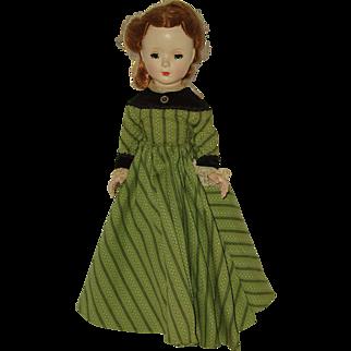 "Vintage 14"" Hard Plastic  Madame Alexander  Head Turning Walker Doll  1950's"