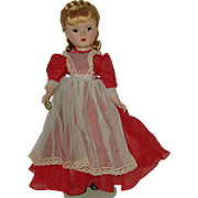 "Vintage 14"" Hard Plastic  Madame Alexander Doll  Little Women  'Meg'  1948-1956"