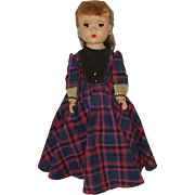 "Vintage 14"" Hard Plastic  Madame Alexander Doll  Little Women  'Jo'  1948-1956"
