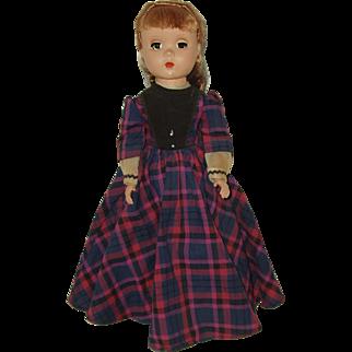"Vintage 14"" Hard Plastic  Madame Alexander Doll  Little Women  'Jo'  1948-1956"