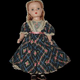 "Vintage 14"" Hard Plastic  Madame Alexander Doll  Little Women  'Beth'  1948-1956"