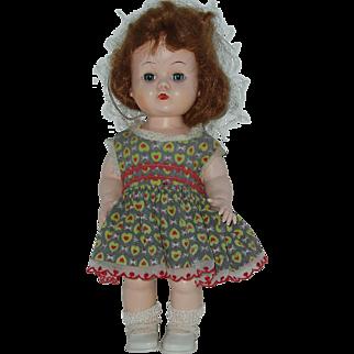 "Vintage 10"" Hard Plastic Walker Block Doll  Circa Mid 1950's"
