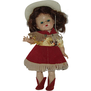 """Vintage 8"""" Vogue Ginny Doll  Cow Girl"""