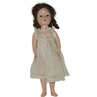 "Vintage 14"" Hard Plastic  Doll Circa 1949-1950"