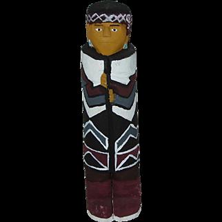 "10"" Navajo Folk Art Hand Carved Figure"