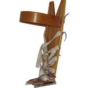 "Vintage Authentic Navajo Hand Made Cradle Board  Doll Size  15"" Circa 1970's"