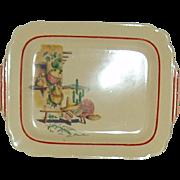 Vintage Homer Laughlin Platter Hacienda Pattern  Circa 1938